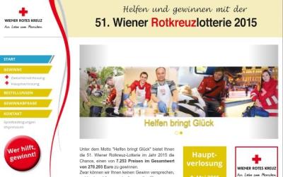 Wiener Rotkreuzlotterie im Web