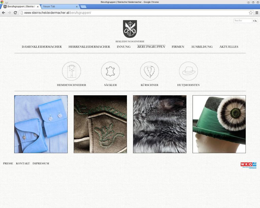 Steirische Kleidermacher: Berufsgruppen