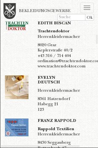 Steirische Kleidermacher: Betriebe
