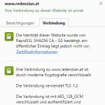 Browser Zertifikatsanzeige: Domain Validiertes Zertifikat